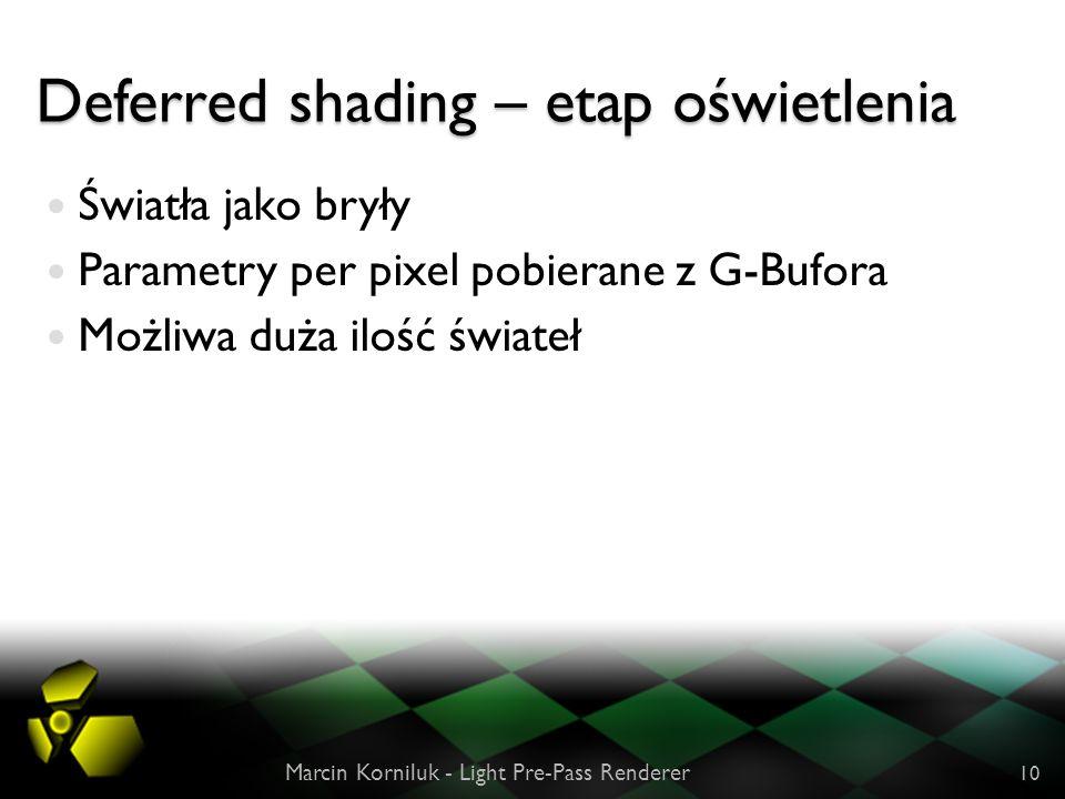 Deferred shading – etap oświetlenia