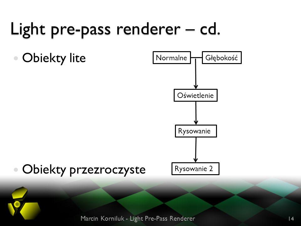 Light pre-pass renderer – cd.