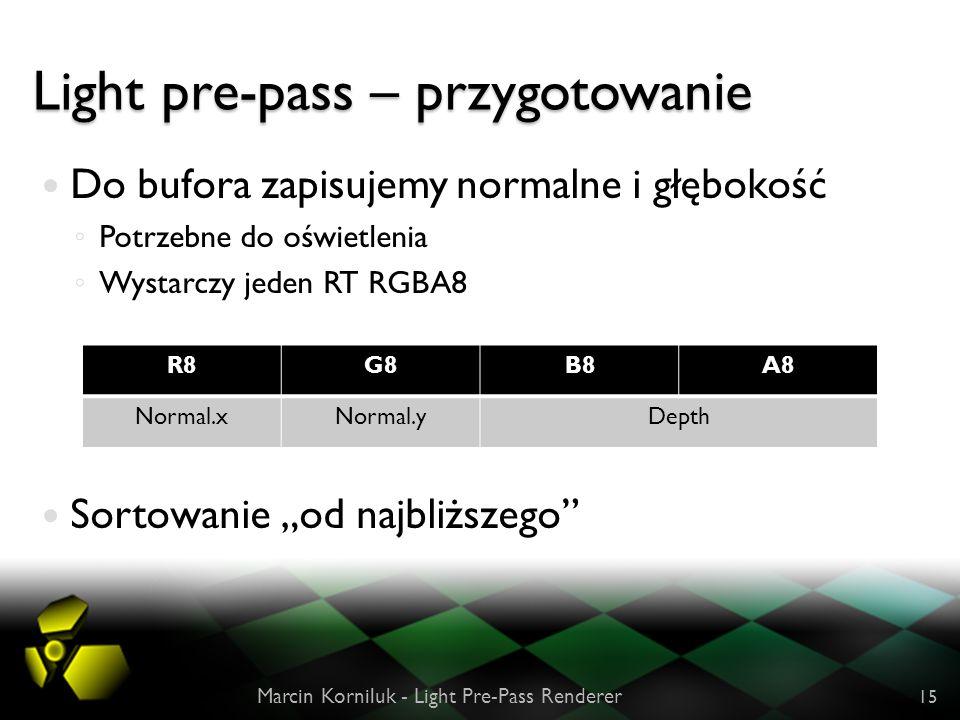 Light pre-pass – przygotowanie