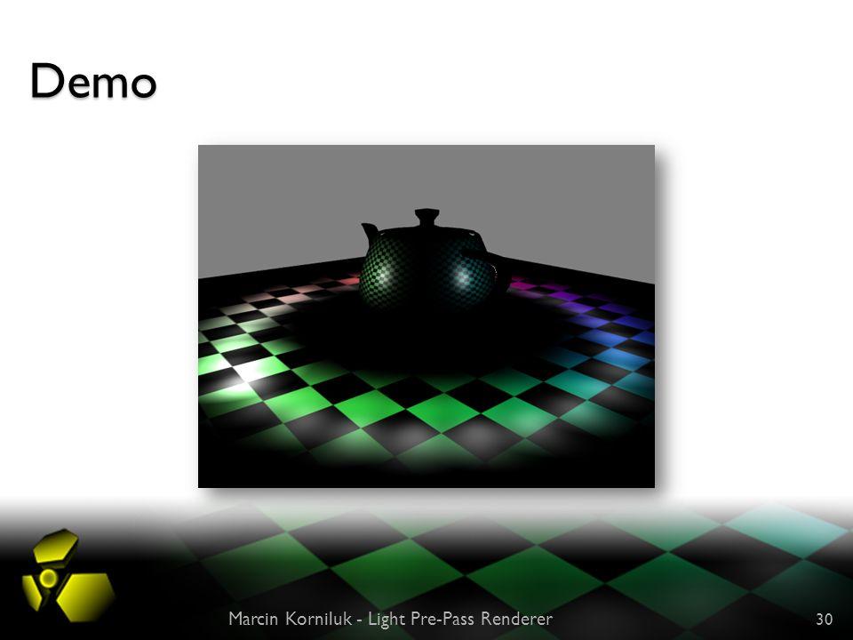 Demo Marcin Korniluk - Light Pre-Pass Renderer