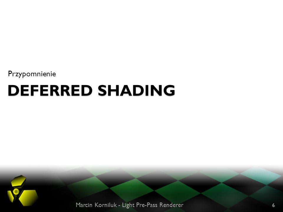 Deferred Shading Przypomnienie