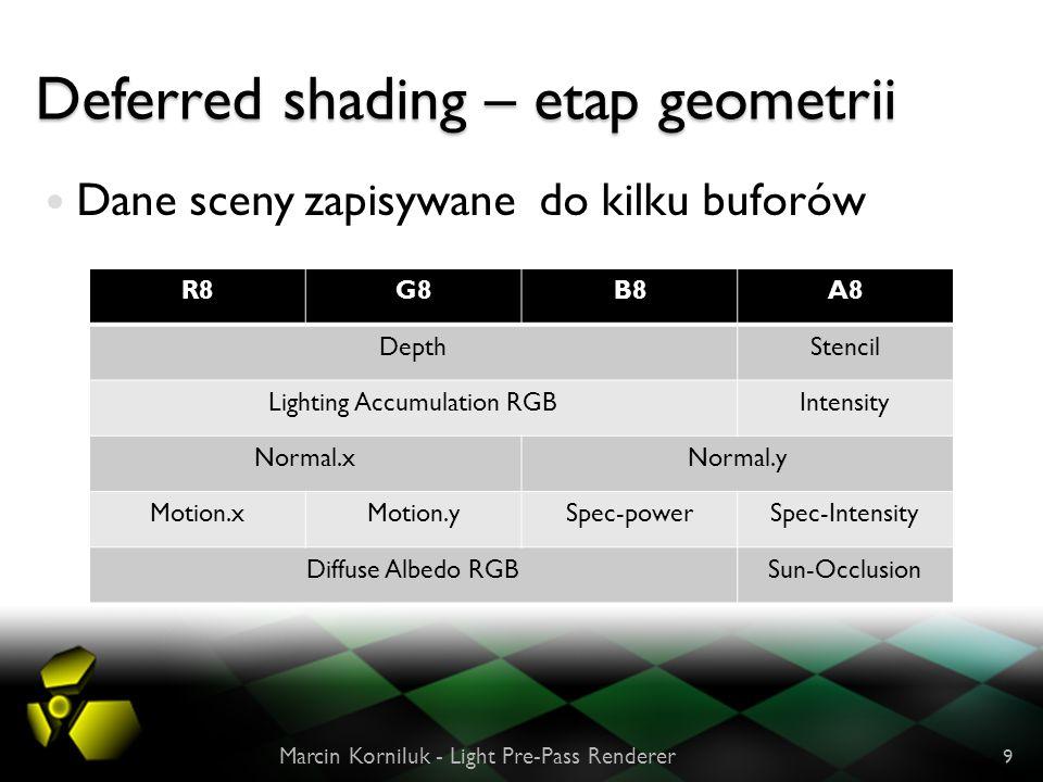 Deferred shading – etap geometrii