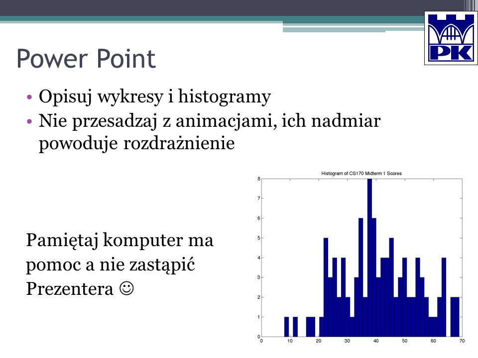 Power Point Opisuj wykresy i histogramy