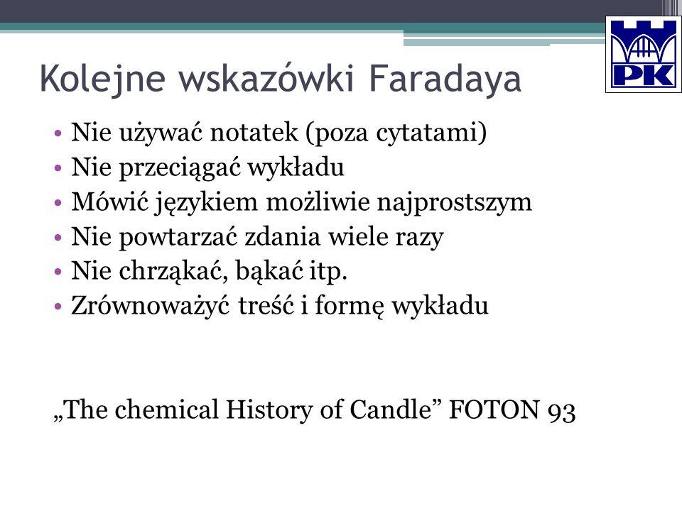 Kolejne wskazówki Faradaya