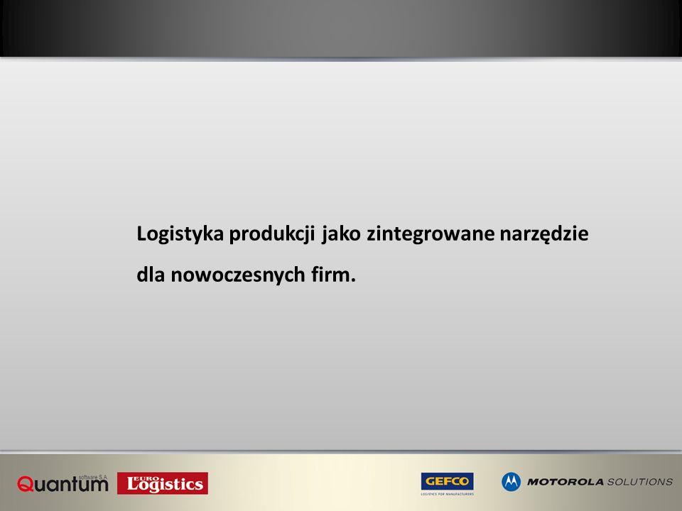 Logistyka produkcji jako zintegrowane narzędzie
