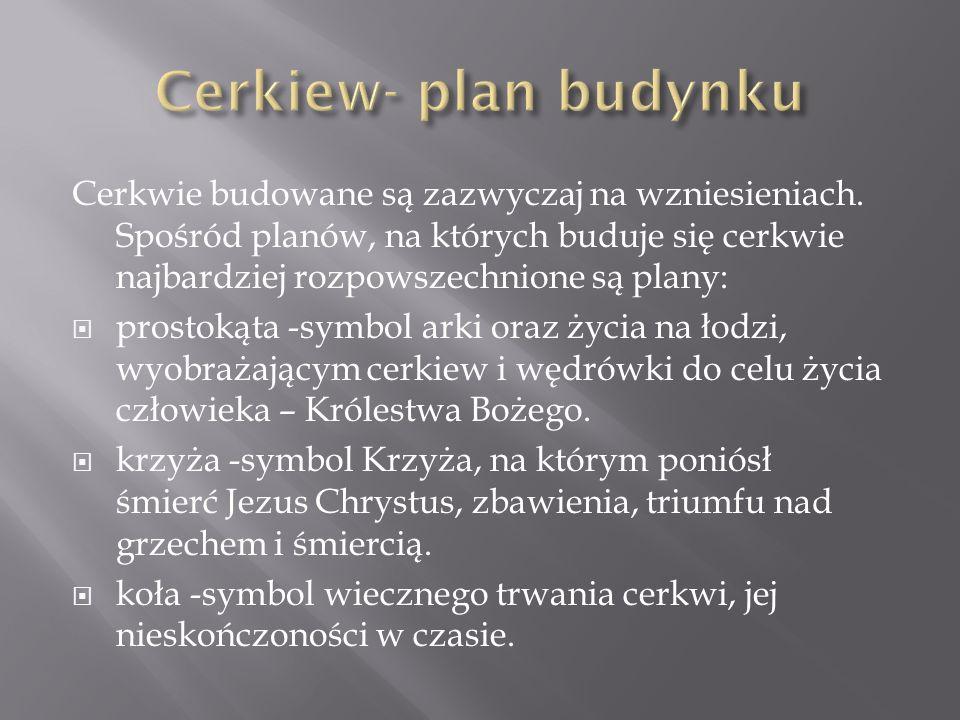 Cerkiew- plan budynku