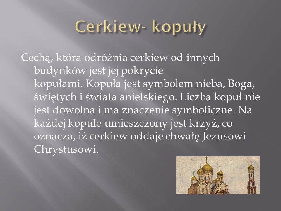 Cerkiew- kopuły