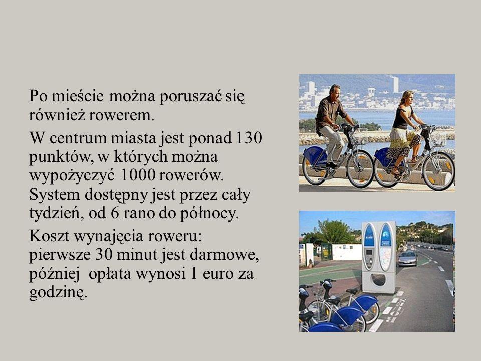 Po mieście można poruszać się również rowerem