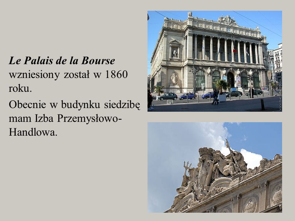 Le Palais de la Bourse wzniesiony został w 1860 roku