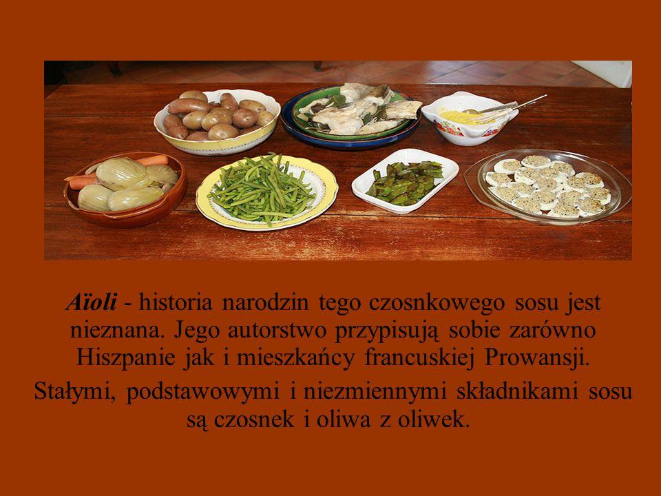 Aïoli - historia narodzin tego czosnkowego sosu jest nieznana