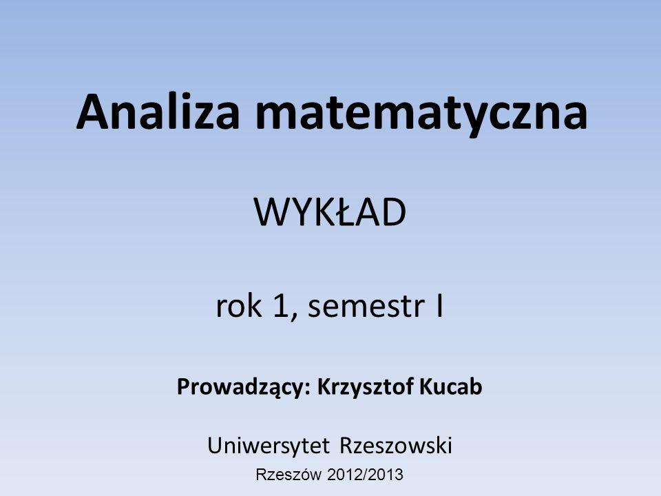 Prowadzący: Krzysztof Kucab