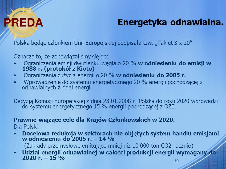 Energetyka odnawialna.