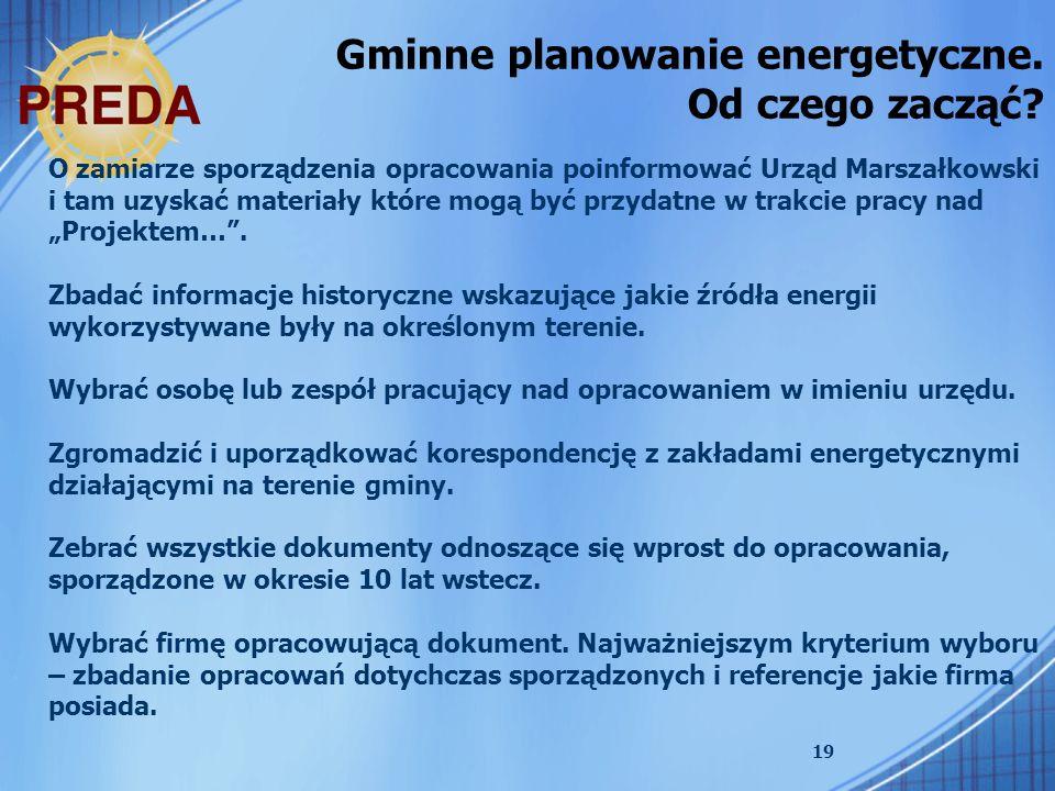 Gminne planowanie energetyczne. Od czego zacząć