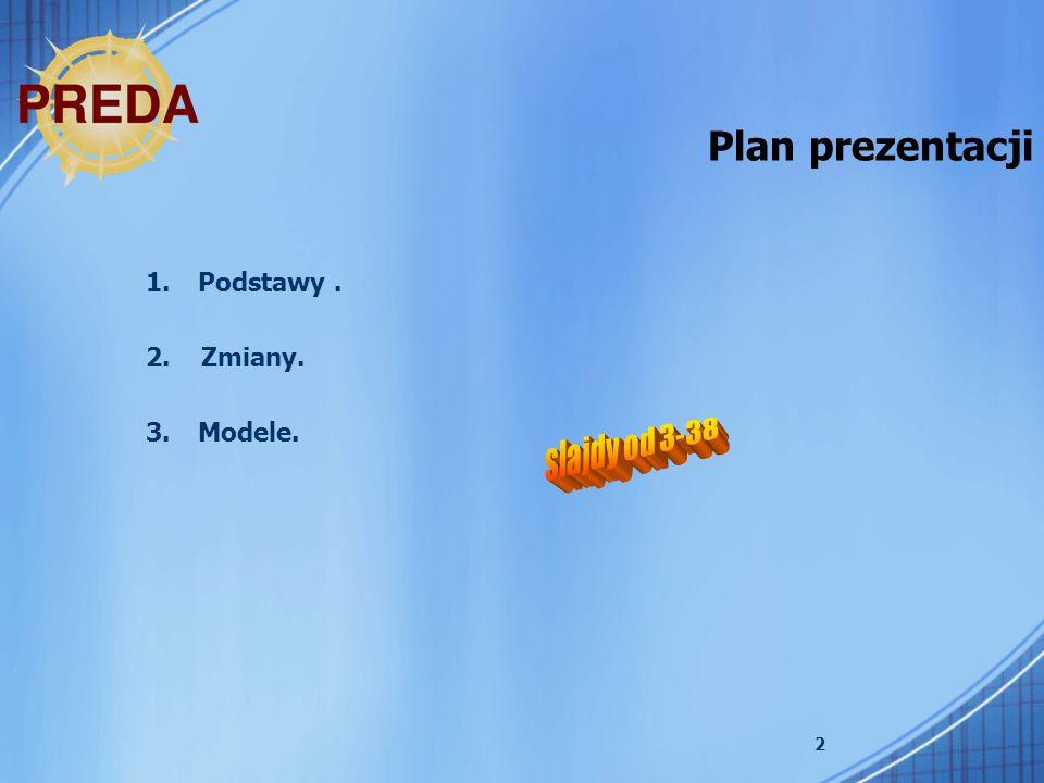 Plan prezentacji Podstawy . 2. Zmiany. Modele. slajdy od 3-38
