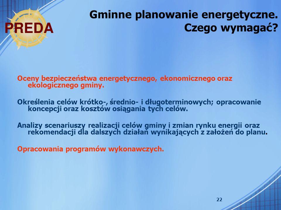 Gminne planowanie energetyczne. Czego wymagać