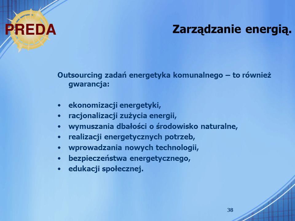 Zarządzanie energią. Outsourcing zadań energetyka komunalnego – to również gwarancja: ekonomizacji energetyki,