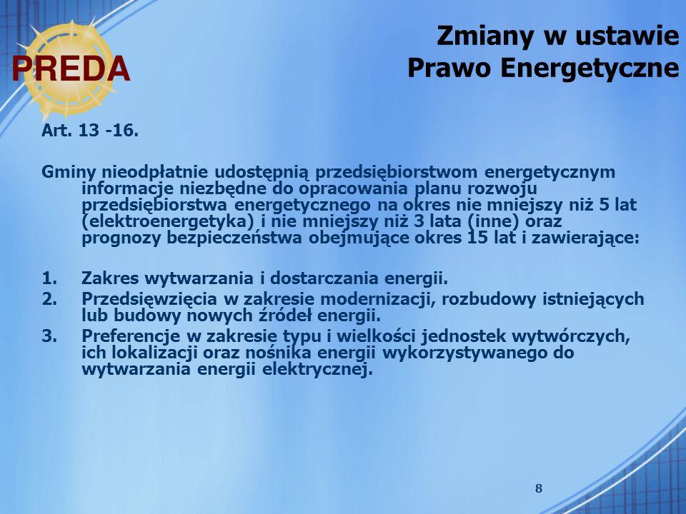 Zmiany w ustawie Prawo Energetyczne