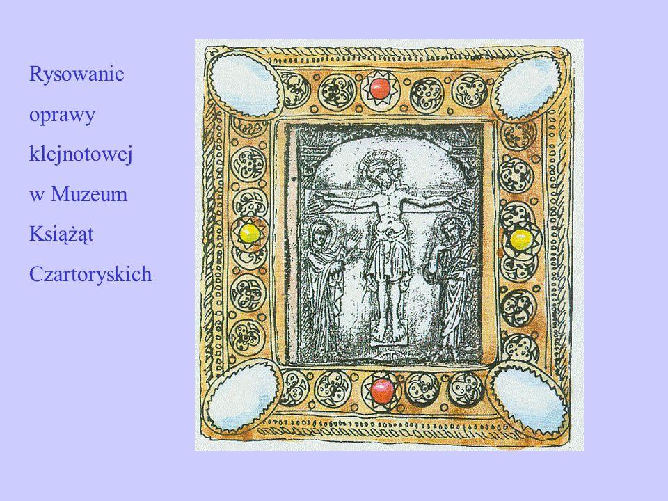 Rysowanie oprawy klejnotowej w Muzeum Książąt Czartoryskich