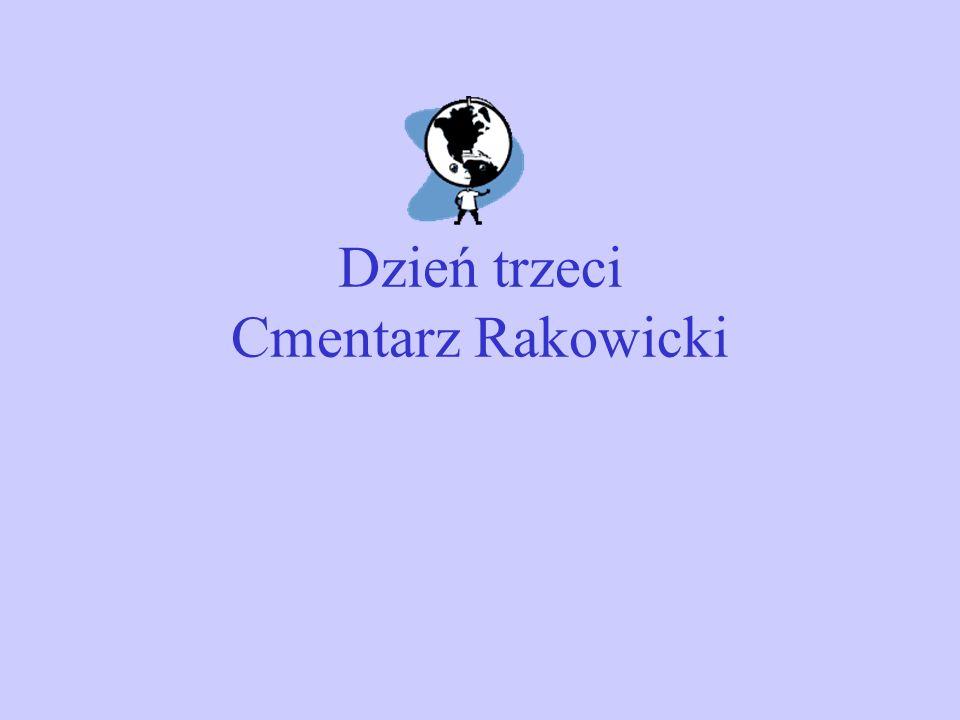 Dzień trzeci Cmentarz Rakowicki