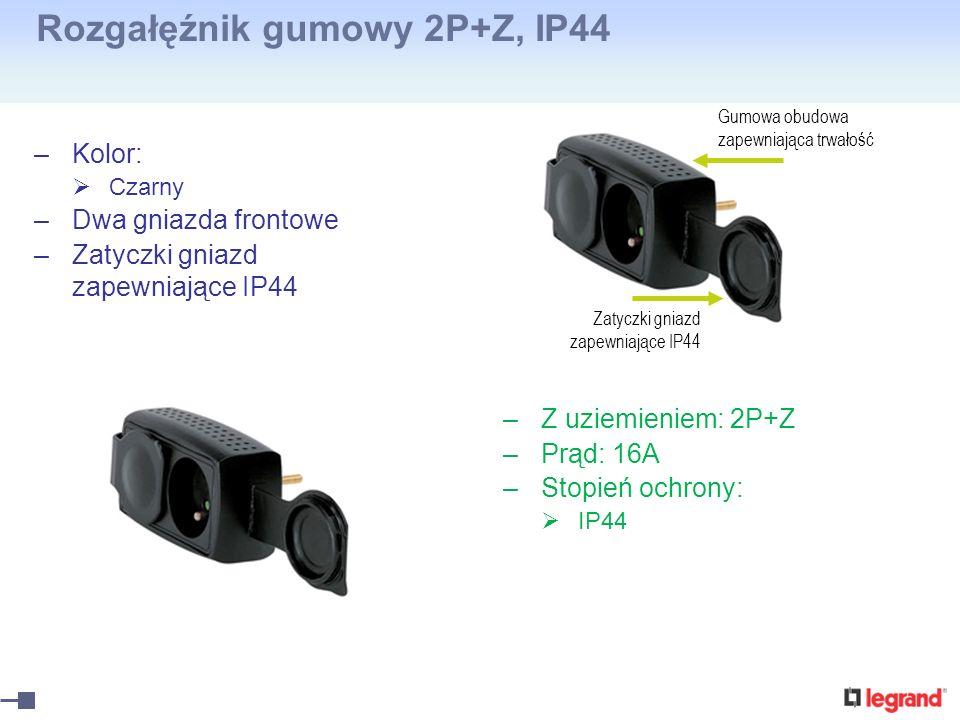Rozgałęźnik gumowy 2P+Z, IP44