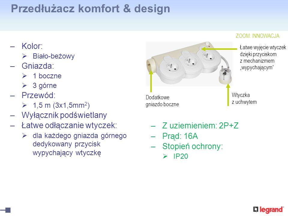 Przedłużacz komfort & design