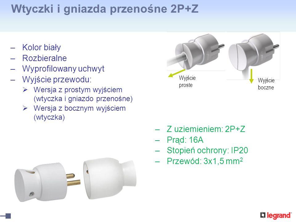 Wtyczki i gniazda przenośne 2P+Z