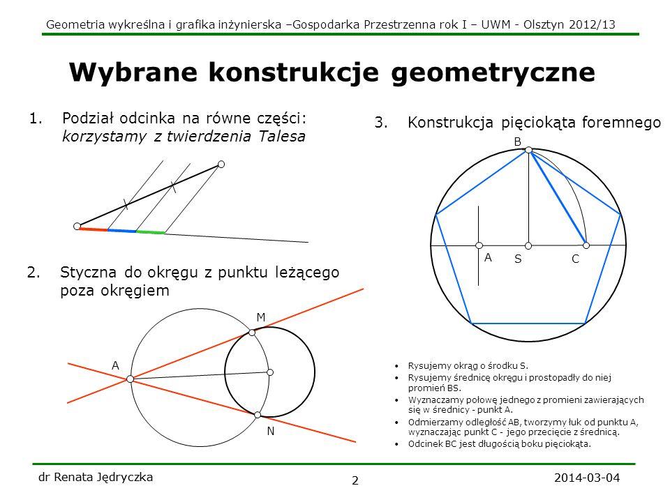 Wybrane konstrukcje geometryczne