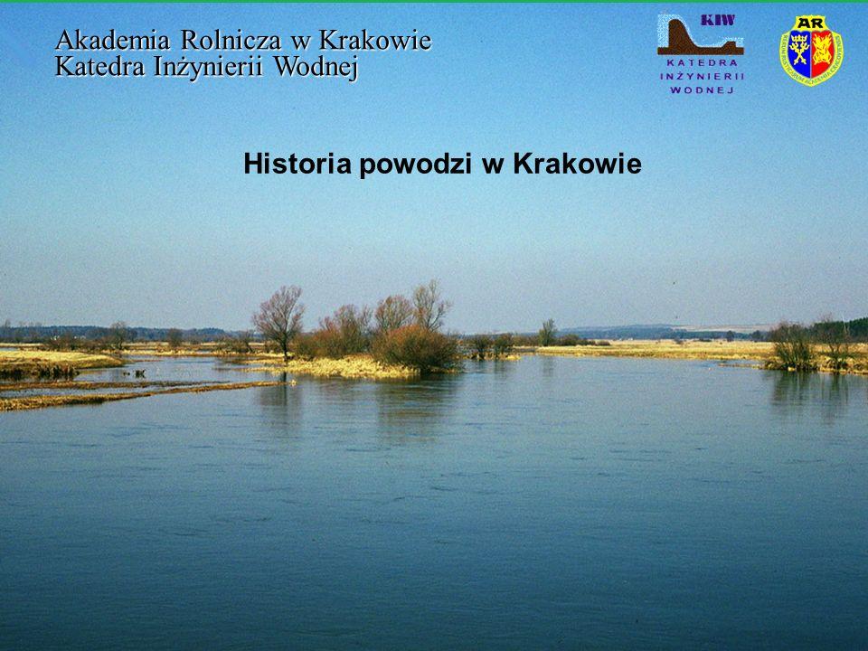Historia powodzi w Krakowie