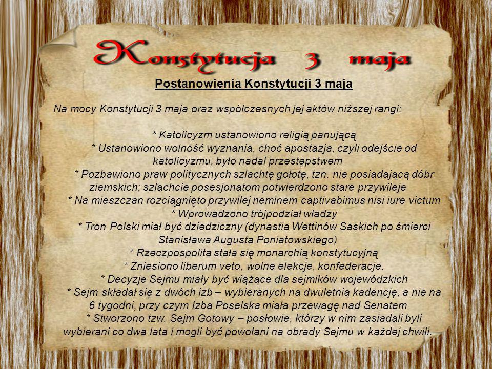Postanowienia Konstytucji 3 maja
