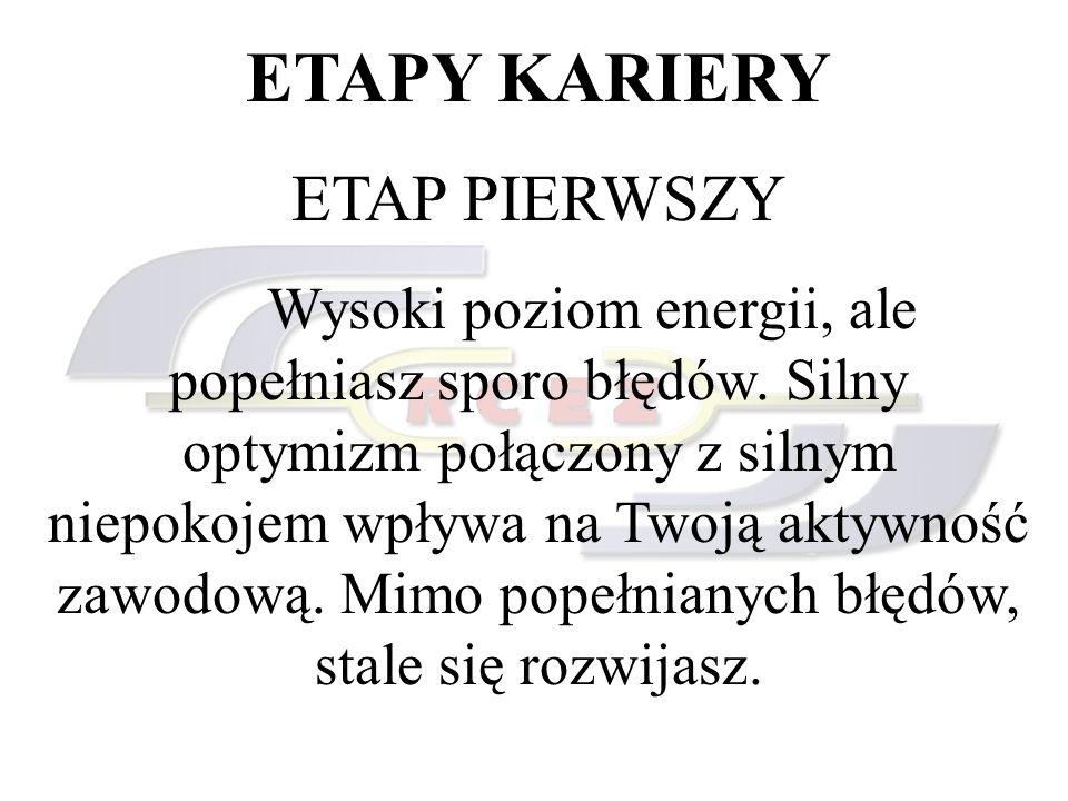 ETAPY KARIERY ETAP PIERWSZY