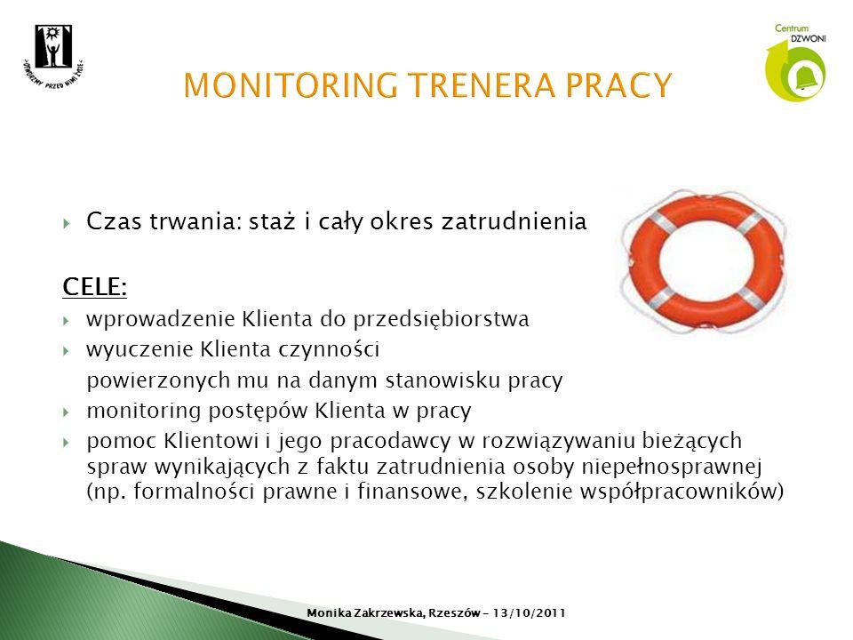 MONITORING TRENERA PRACY