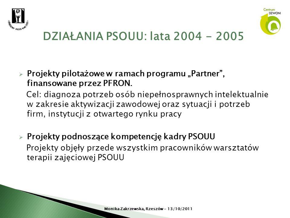 DZIAŁANIA PSOUU: lata 2004 - 2005