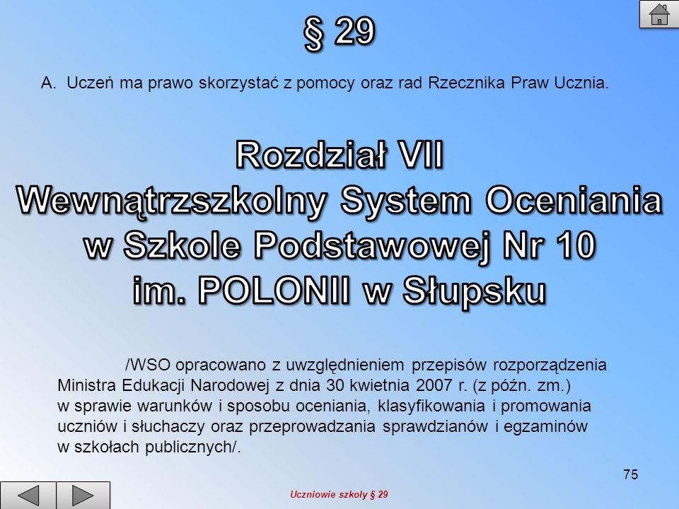 Wewnątrzszkolny System Oceniania w Szkole Podstawowej Nr 10