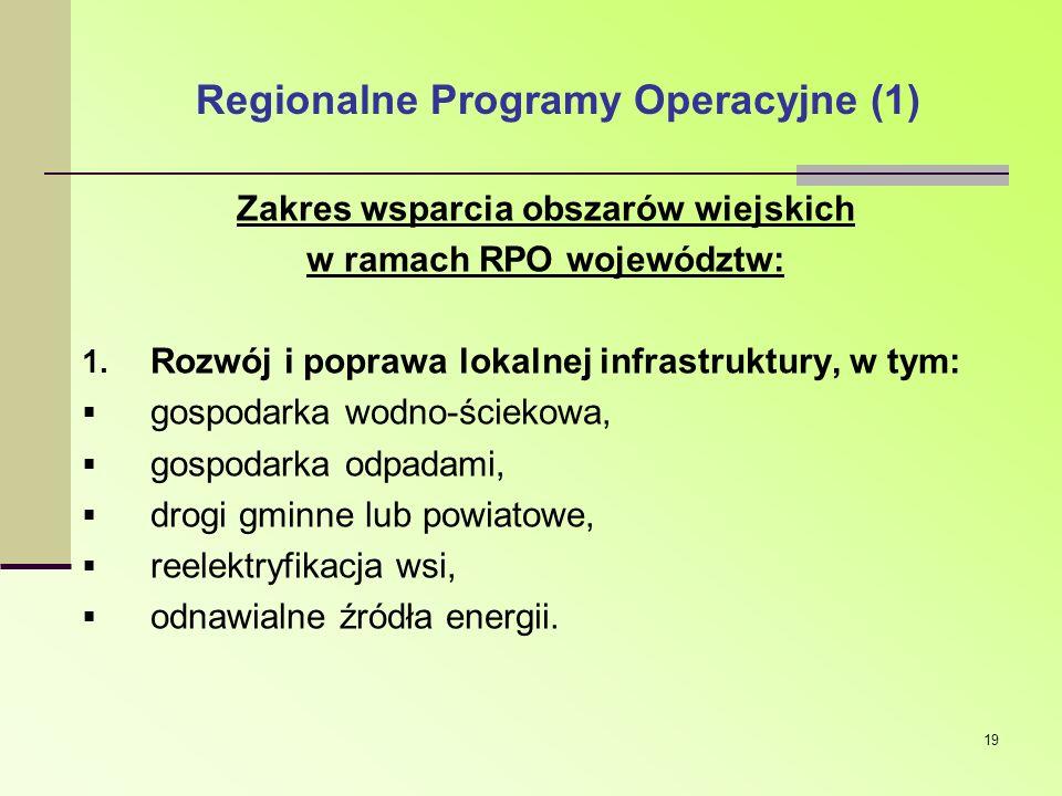 Regionalne Programy Operacyjne (1)