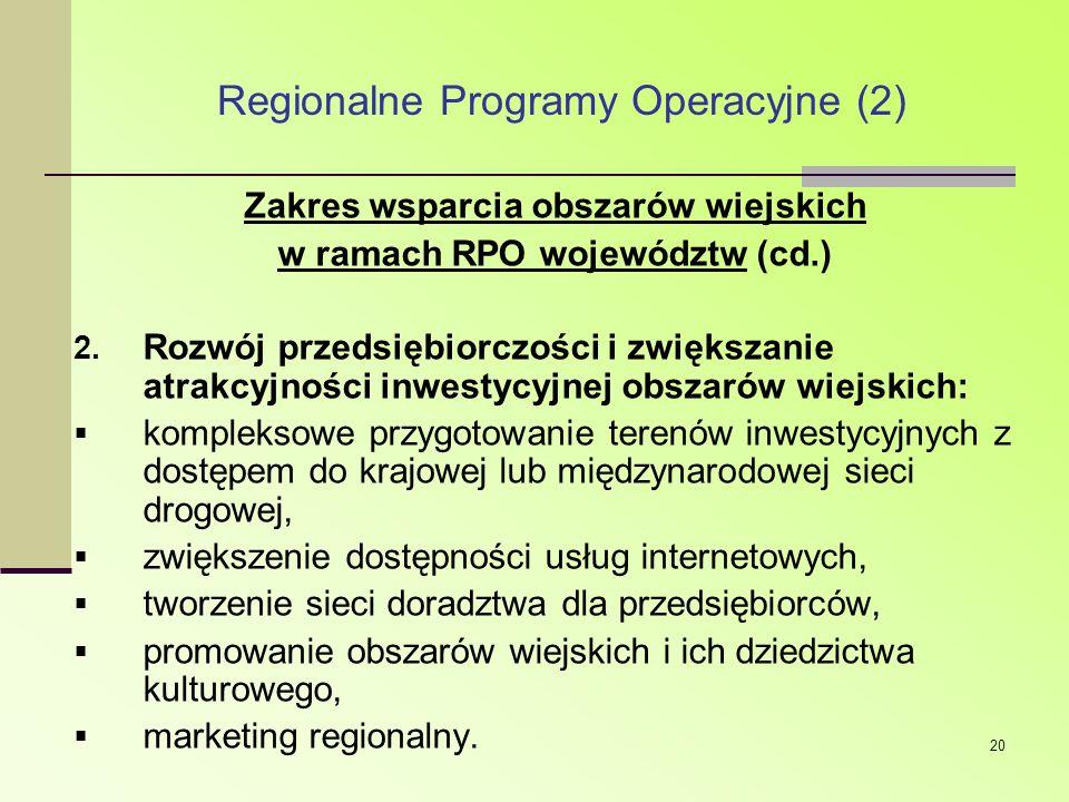 Regionalne Programy Operacyjne (2)