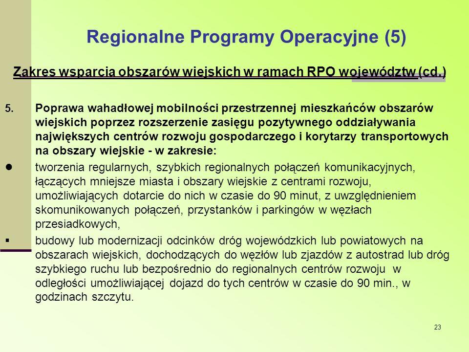 Regionalne Programy Operacyjne (5)