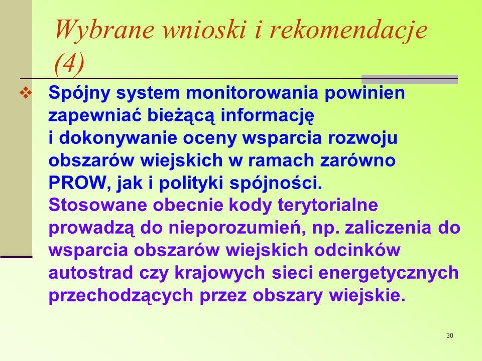 Wybrane wnioski i rekomendacje (4)