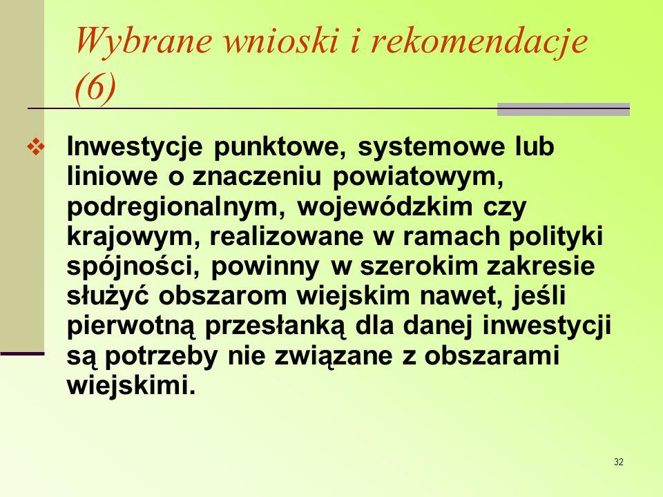 Wybrane wnioski i rekomendacje (6)