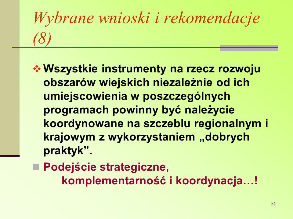 Wybrane wnioski i rekomendacje (8)