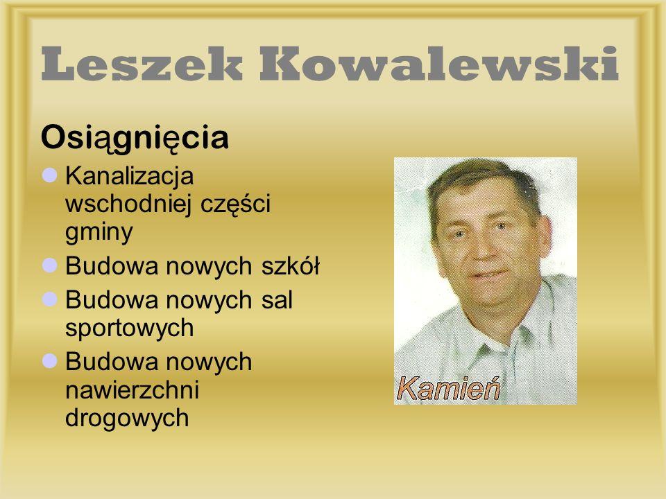 Leszek Kowalewski Osiągnięcia Kanalizacja wschodniej części gminy