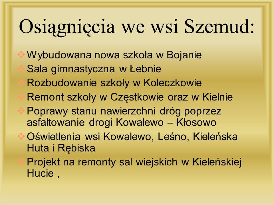 Osiągnięcia we wsi Szemud: