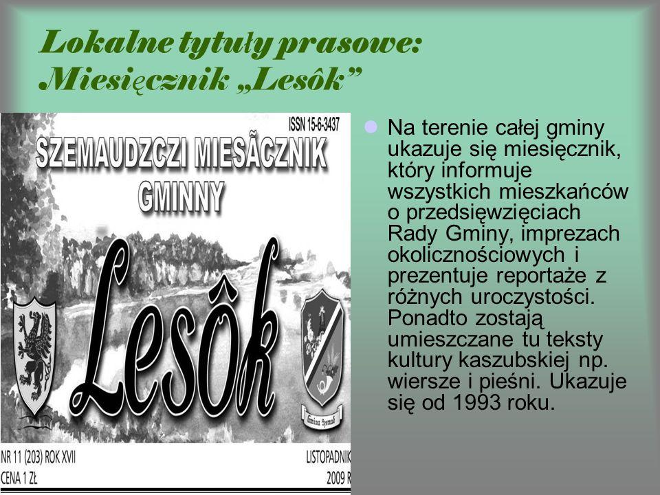 """Lokalne tytuły prasowe: Miesięcznik """"Lesôk"""