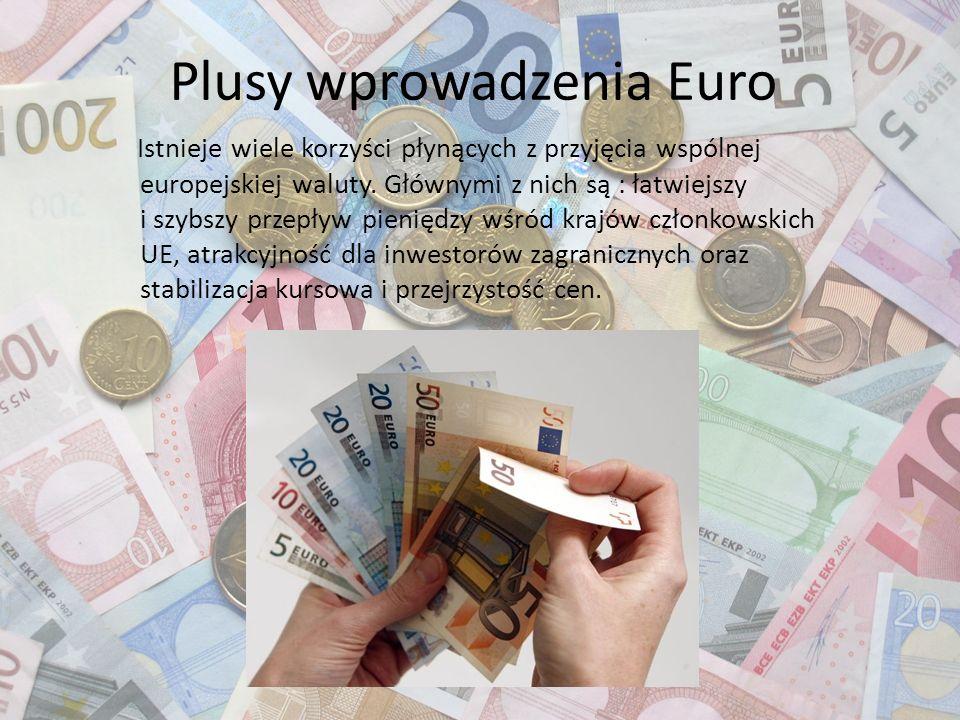 Plusy wprowadzenia Euro