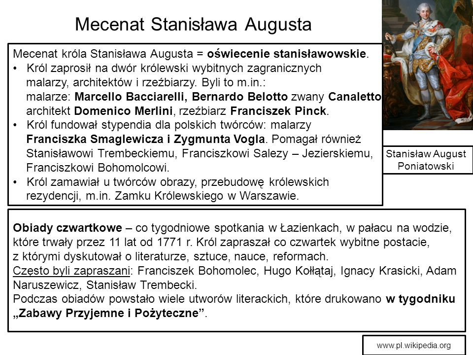 Mecenat Stanisława Augusta