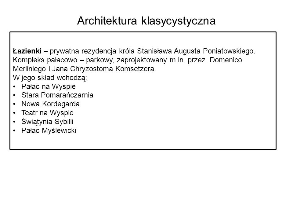 Architektura klasycystyczna