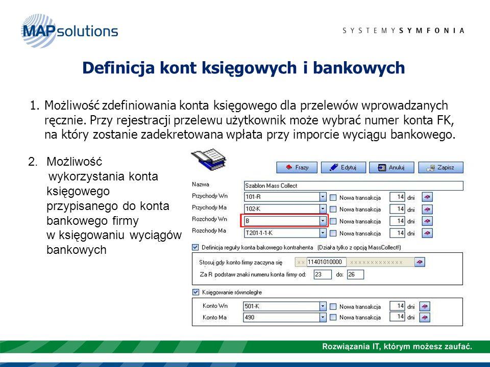 Definicja kont księgowych i bankowych