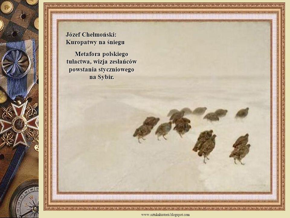 Józef Chełmoński: Kuropatwy na śniegu