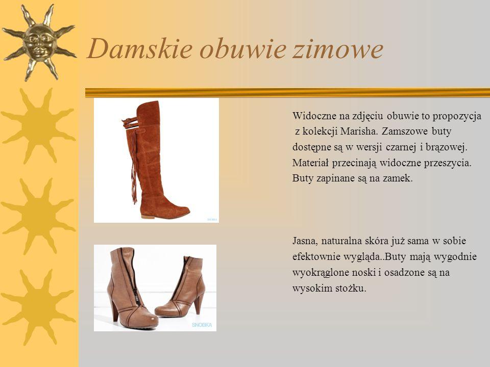 Damskie obuwie zimowe Widoczne na zdjęciu obuwie to propozycja