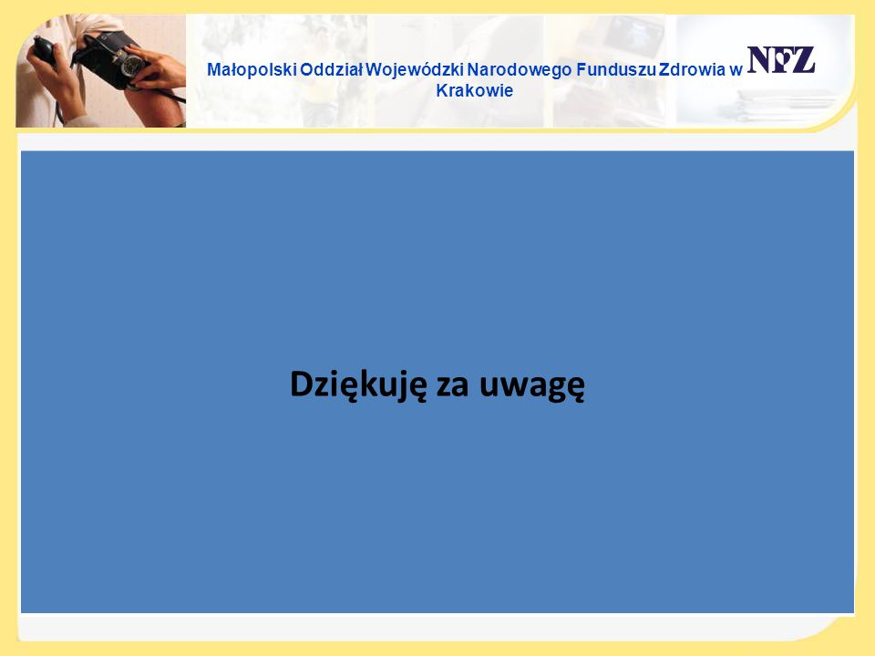 Małopolski Oddział Wojewódzki Narodowego Funduszu Zdrowia w Krakowie