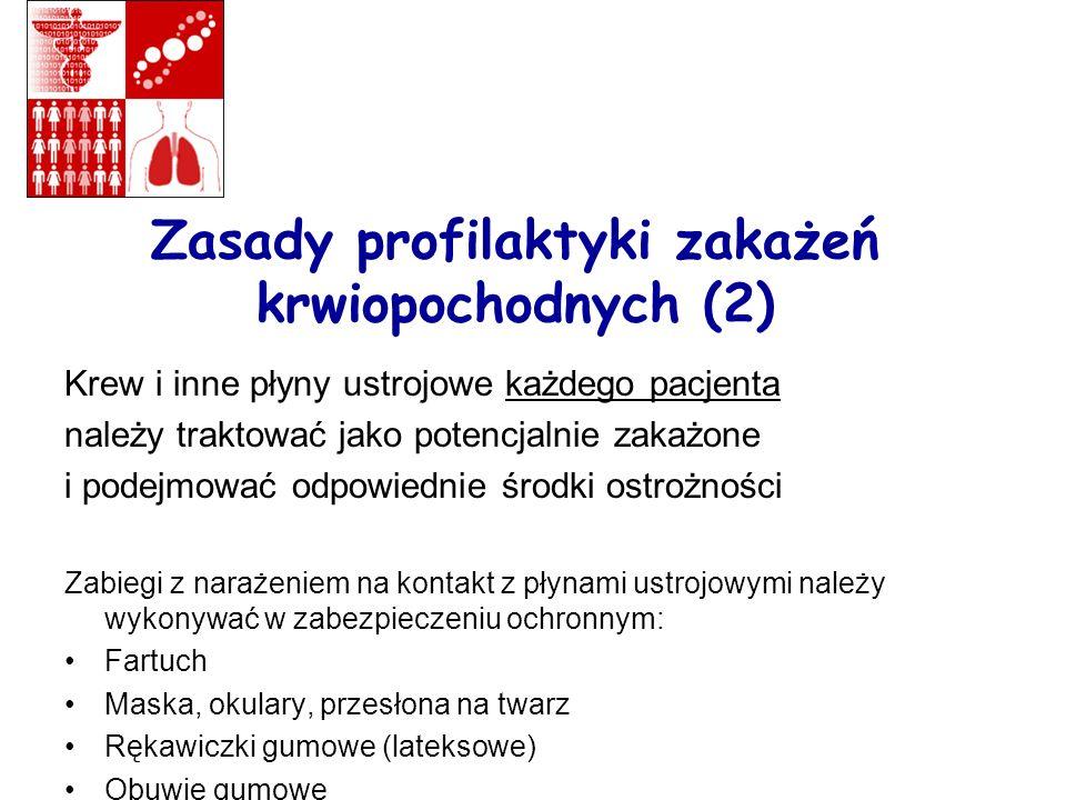 Zasady profilaktyki zakażeń krwiopochodnych (2)